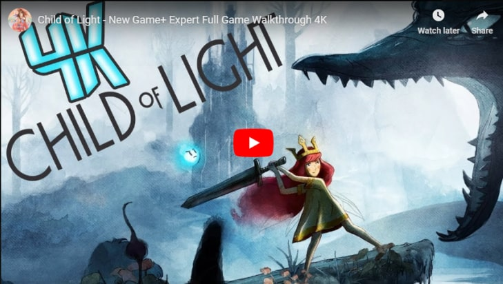 Child of Light Gameplay YouTube Video