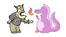 warrior and pink dragon_feature_image
