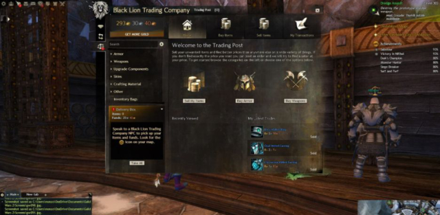 Guild Wars 2 trading in the auction house