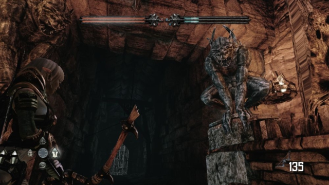 Hunted The Demons Forge old statue.