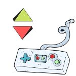 video_game_controller_green_red