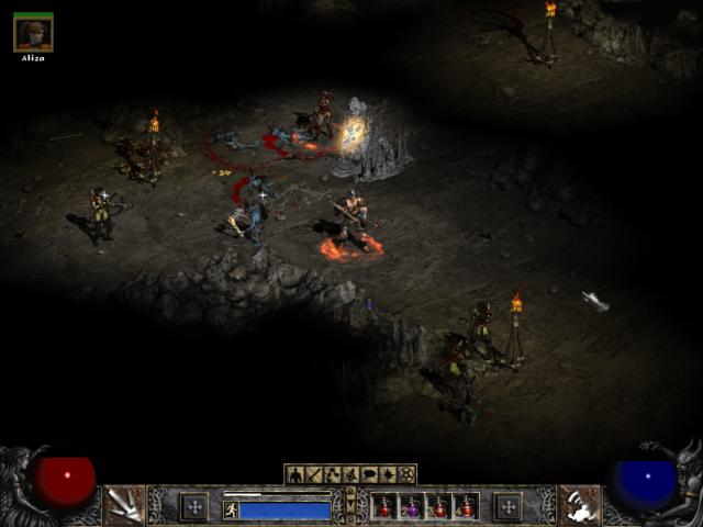 Diablo 2 Ambushed by Enemy
