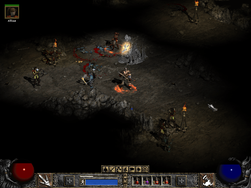 Diablo 2 Ambushed by Enemy
