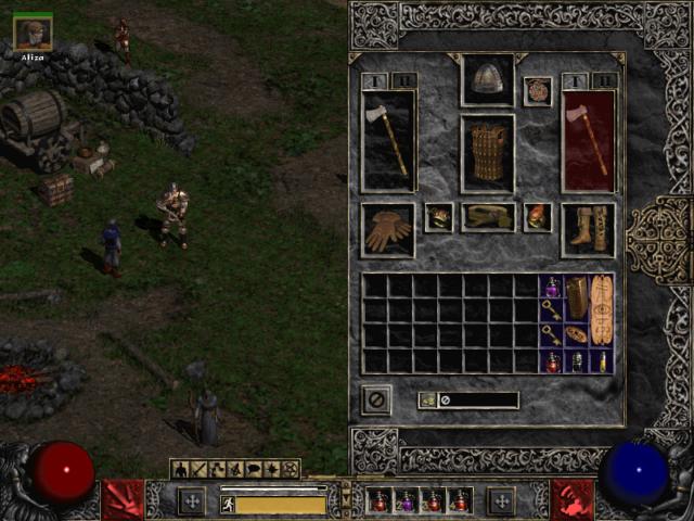 Diablo 2 Inventory Tab