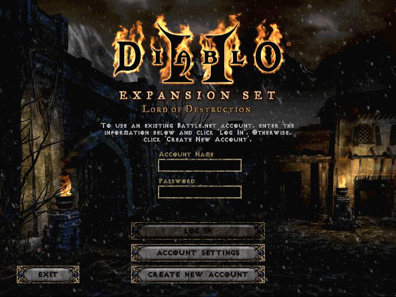 Diablo 2 Starting Screen