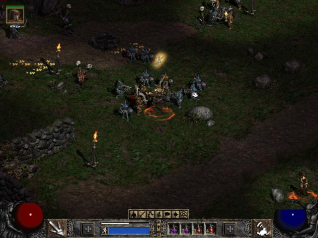Diablo 2 Surrounded by Enemies