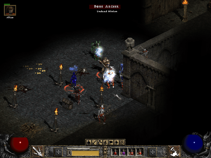 Diablo 2 Under Attack by Undead Army