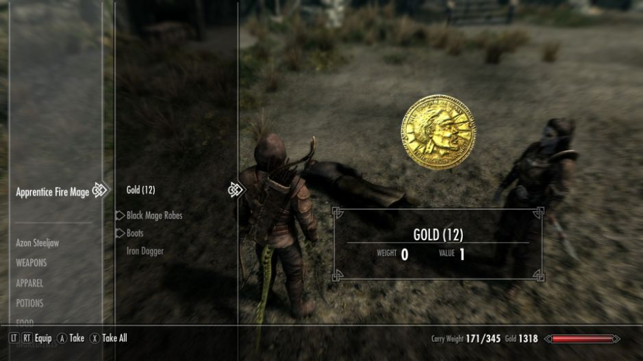 Make money in Skyrim killing mages