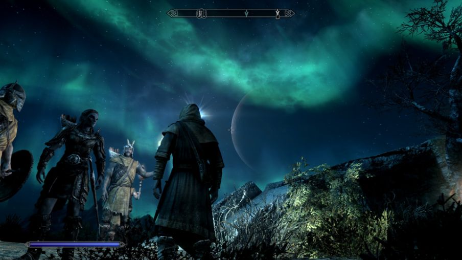 Skyrim Special Edition Gameplay - The night sky