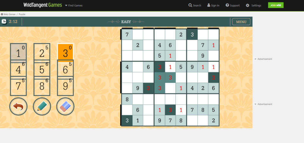 Sudoku is a free to play game