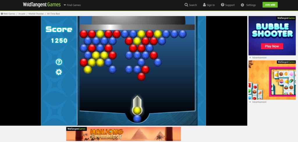 Wildtangent free game Bouncing Balls