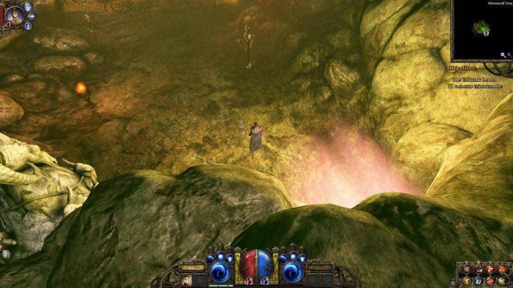 Entering a dark cave