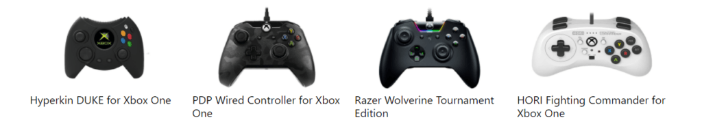 A variety of Xbox Controllers