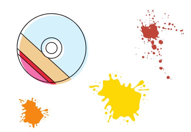 Un disco de juego con colores.