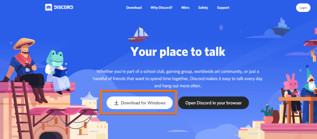 Discord Software Website - Download for Windows