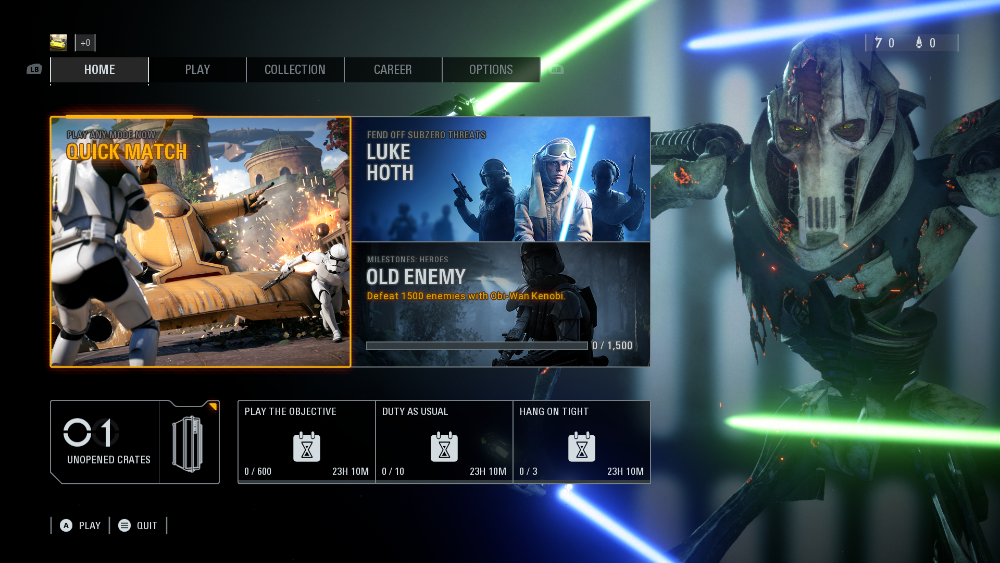 Quick Match Mode Screen