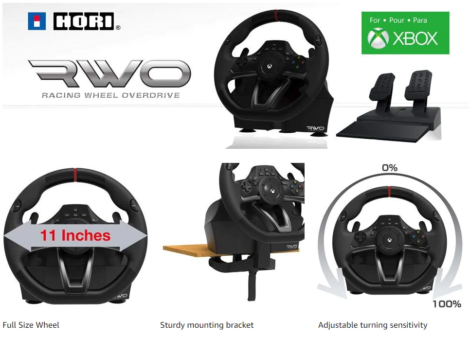 Racing Wheel Overdrive for Xbox One from HORI USA Image.