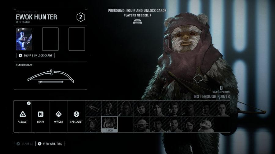 Reinforcement Class Ewok Hunter