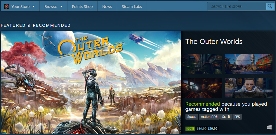 Steam Powered Homepage