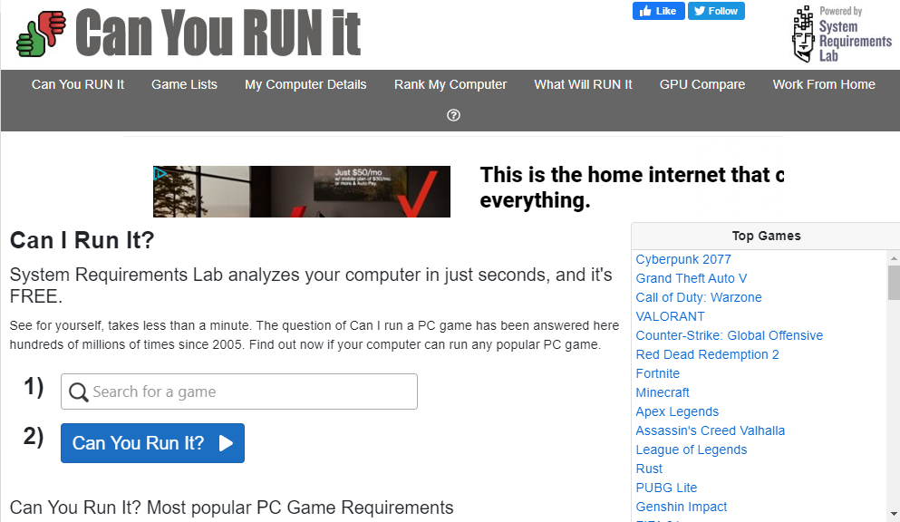 Can-You-RUN-It-System-Requirements-Lab-Website