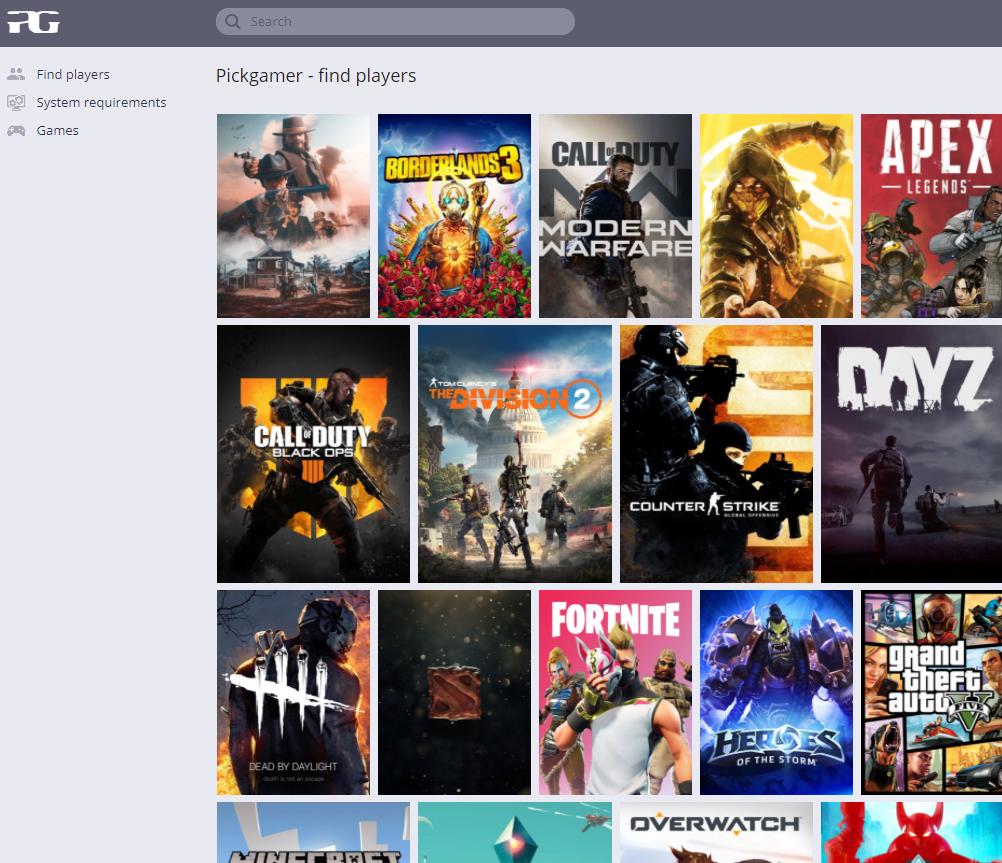 Pickgamer Website