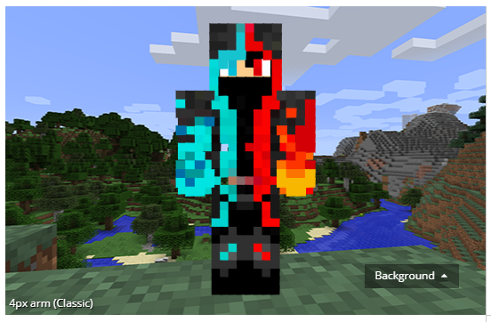 Ice, Fire Mage Minecraft Skin