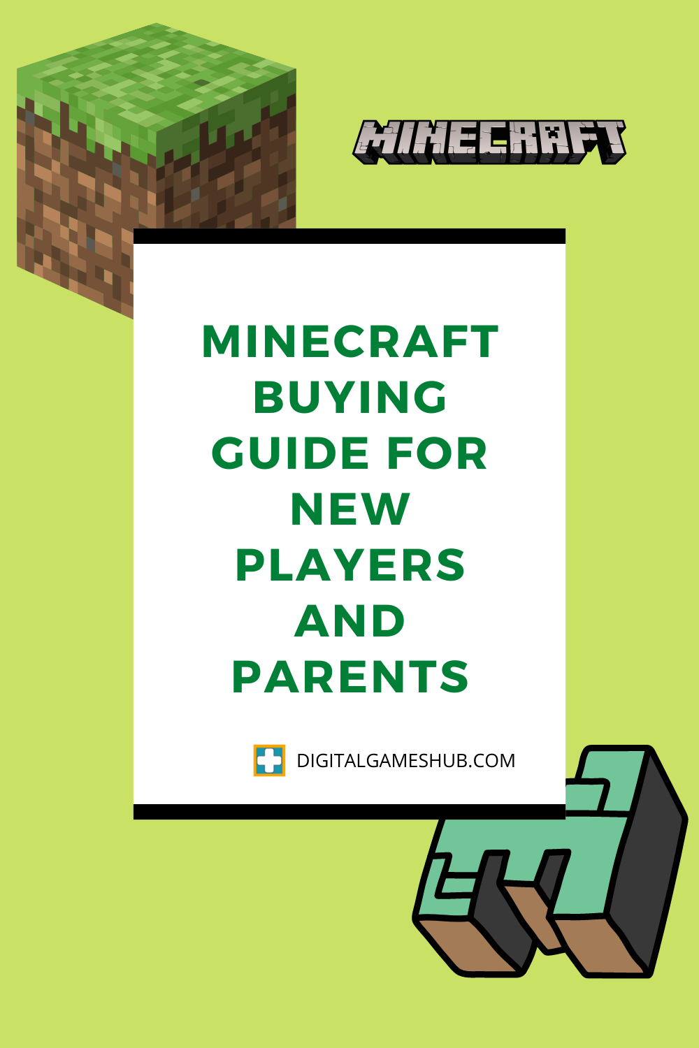 Minecraft Buying Guide for New Players and Parents Pinterest Image