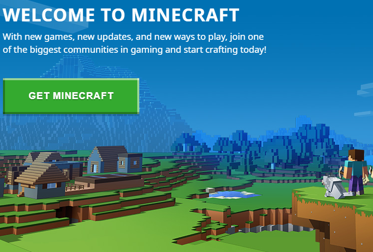 Minecraft Official Site-Welcome Page