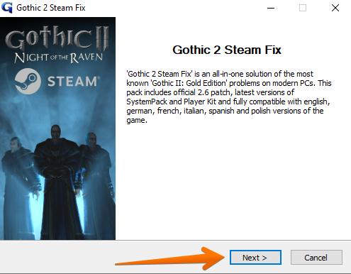 Gothic 2 Steam Fix Software Updater