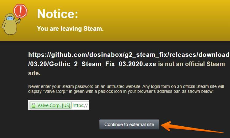 Steam Community Notice Sign 1