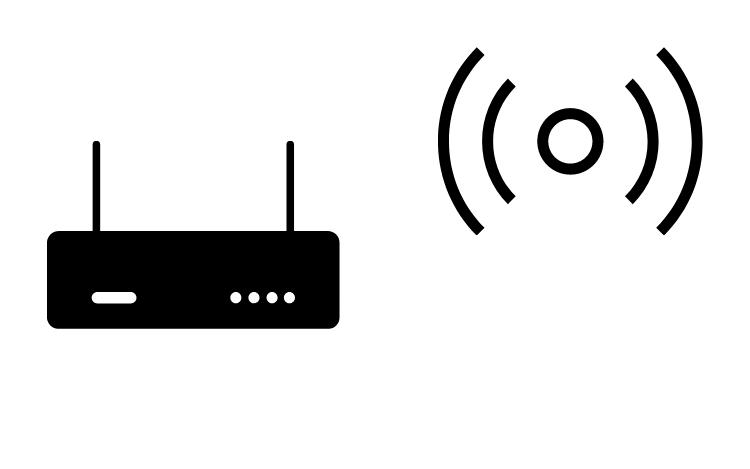 A modem sending a signal