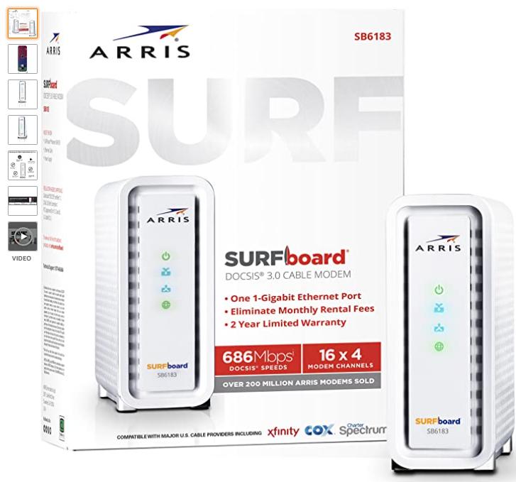 ARRIS SURFboard SB6183-Amazon Image
