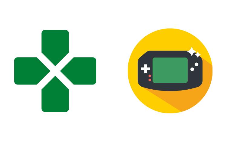 Una consola portatil verde