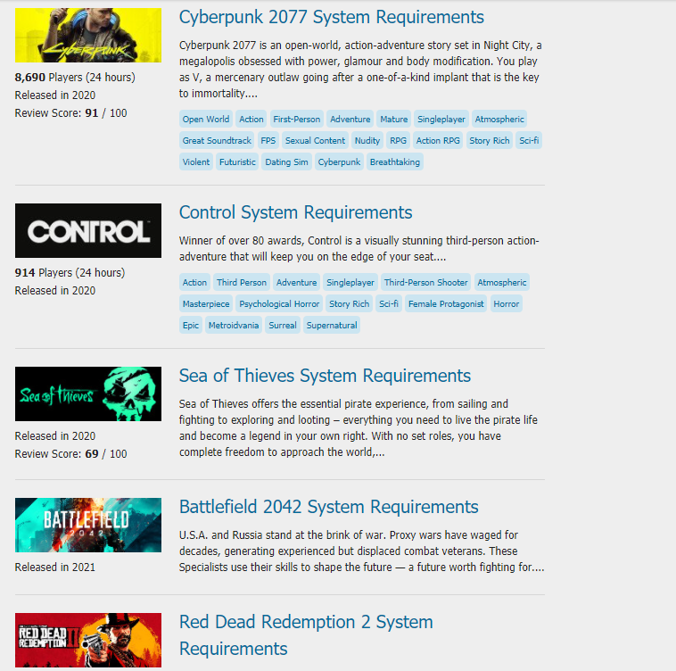 Games you can play on your PC